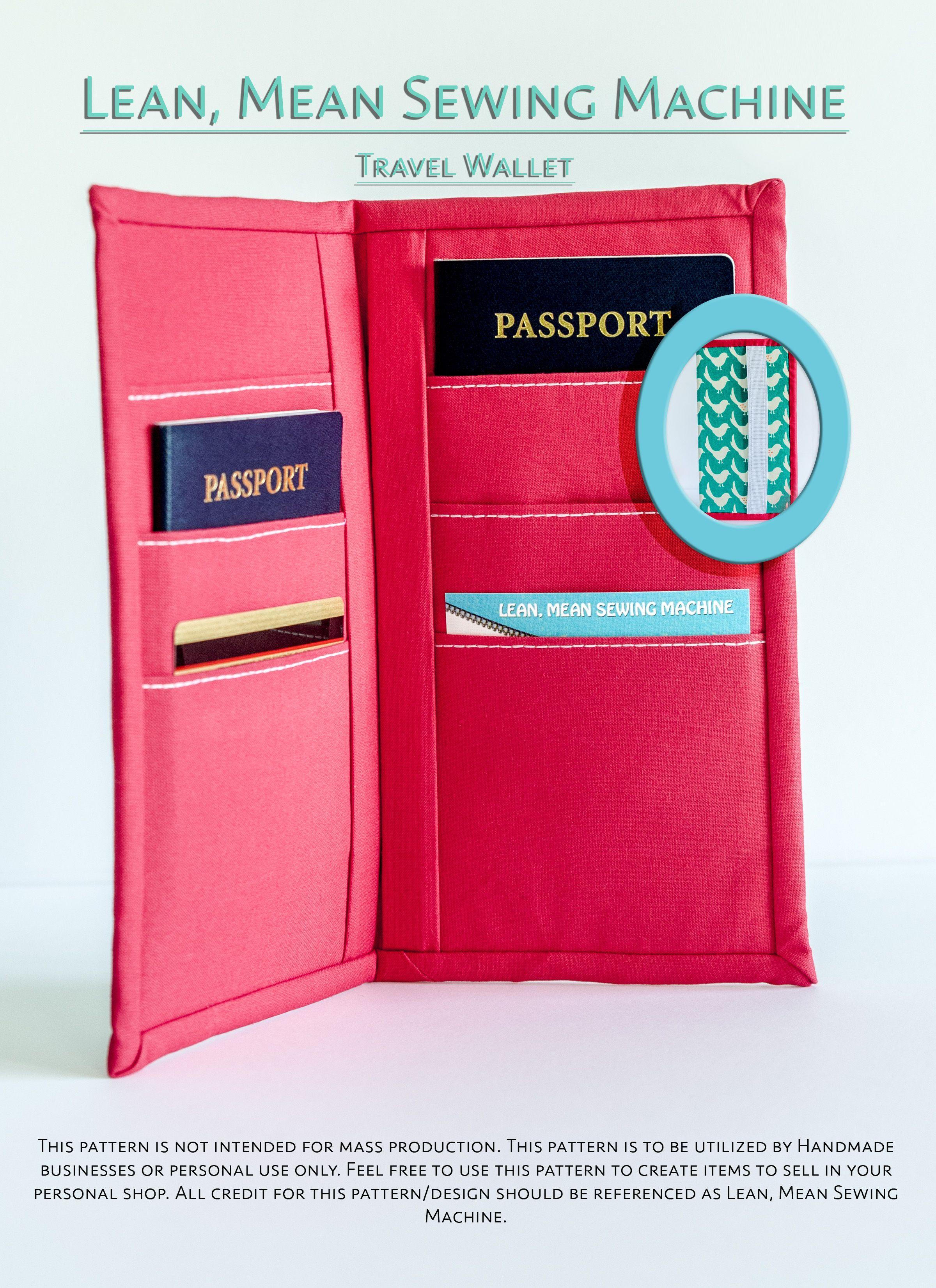 0d71d9f1783b Travel Wallet Pattern | Craft Ideas | Wallet, Passport wallet ...