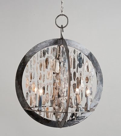 Ossabaw Shelled Double Ring Chandelier