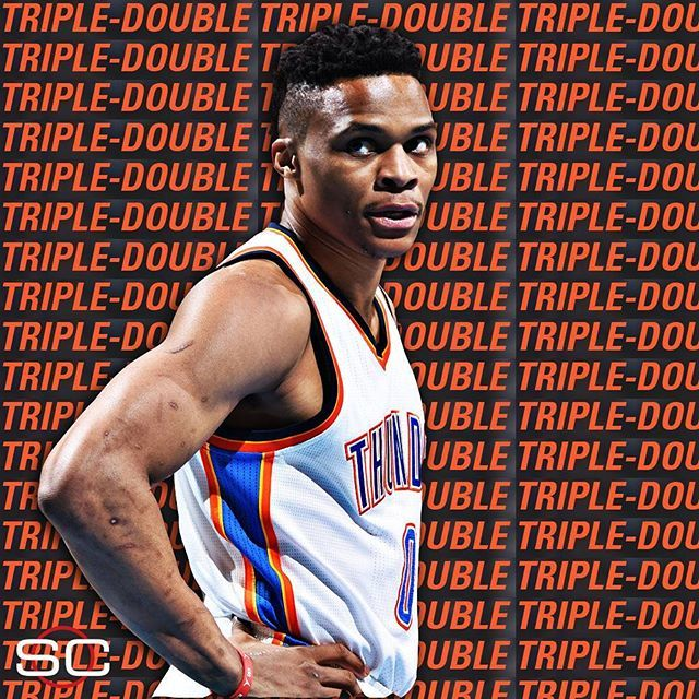 Russell westbrook 36 pts 11 ast 11 reb finishes with for Russell westbrook tattoo