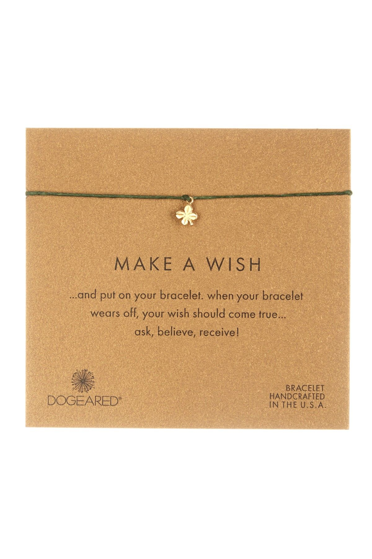 Dogeared | Make A Wish Clover Charm Bracelet
