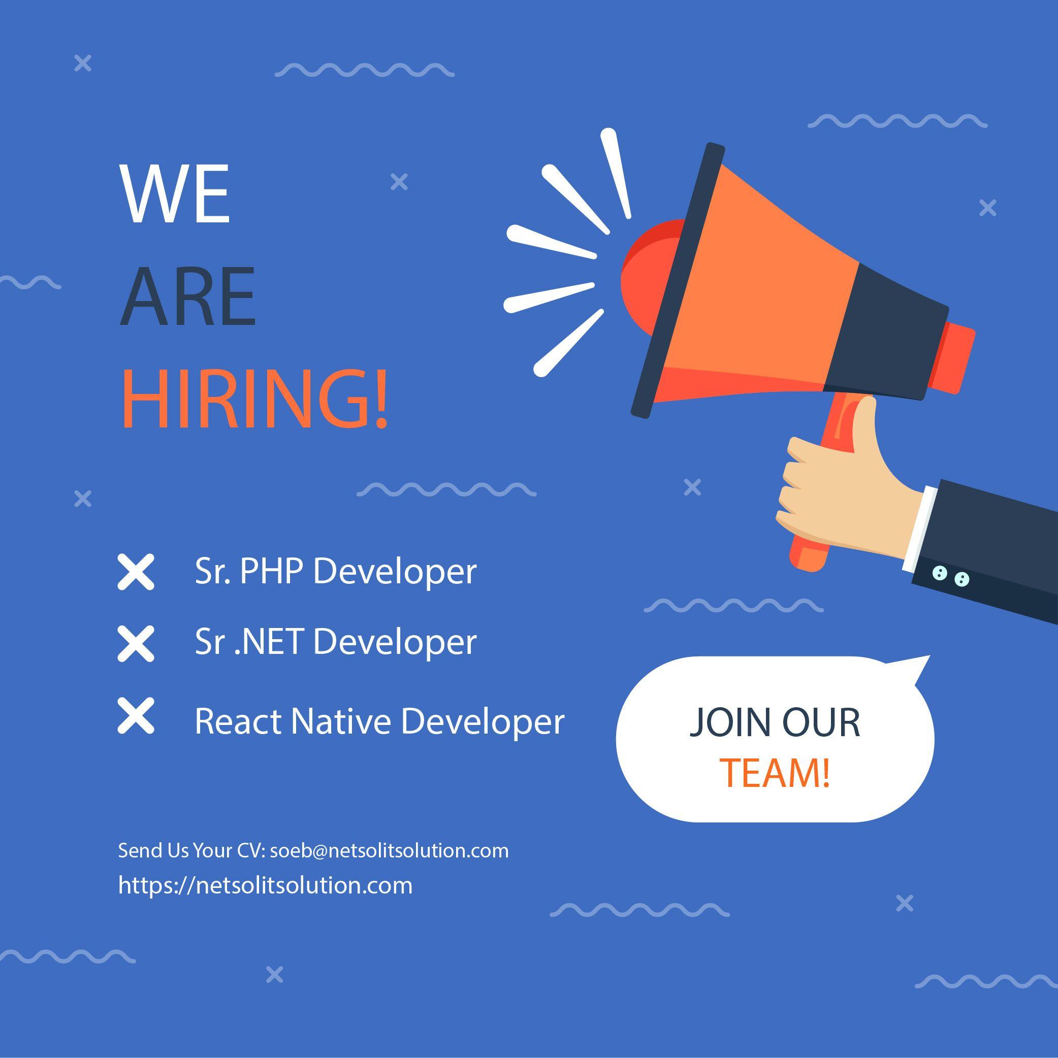 Job Vacancy Netsol It Solution Desain Banner Desain Poster Latar Belakang