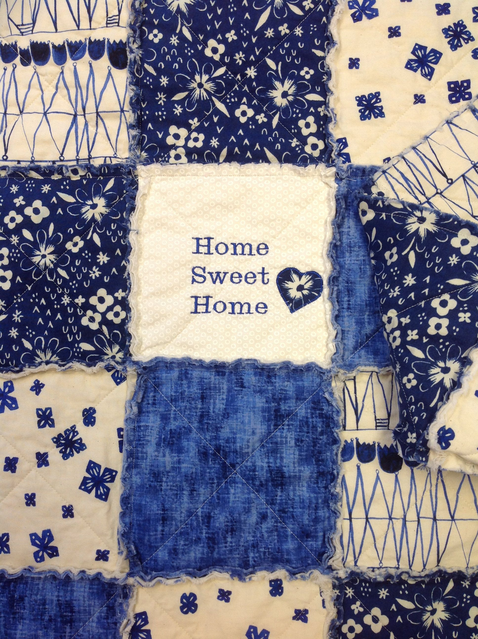 Homemade Quilt, Throw Quilt, Rag Quilt For Sale, Embroidered Quilt ... : embroidered quilts for sale - Adamdwight.com