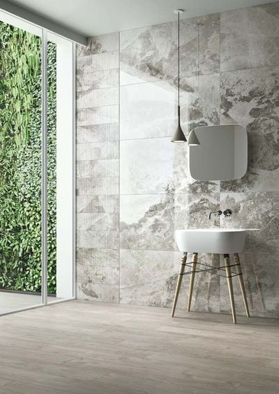 bathroom wall tiles - large and pattern/color swirl