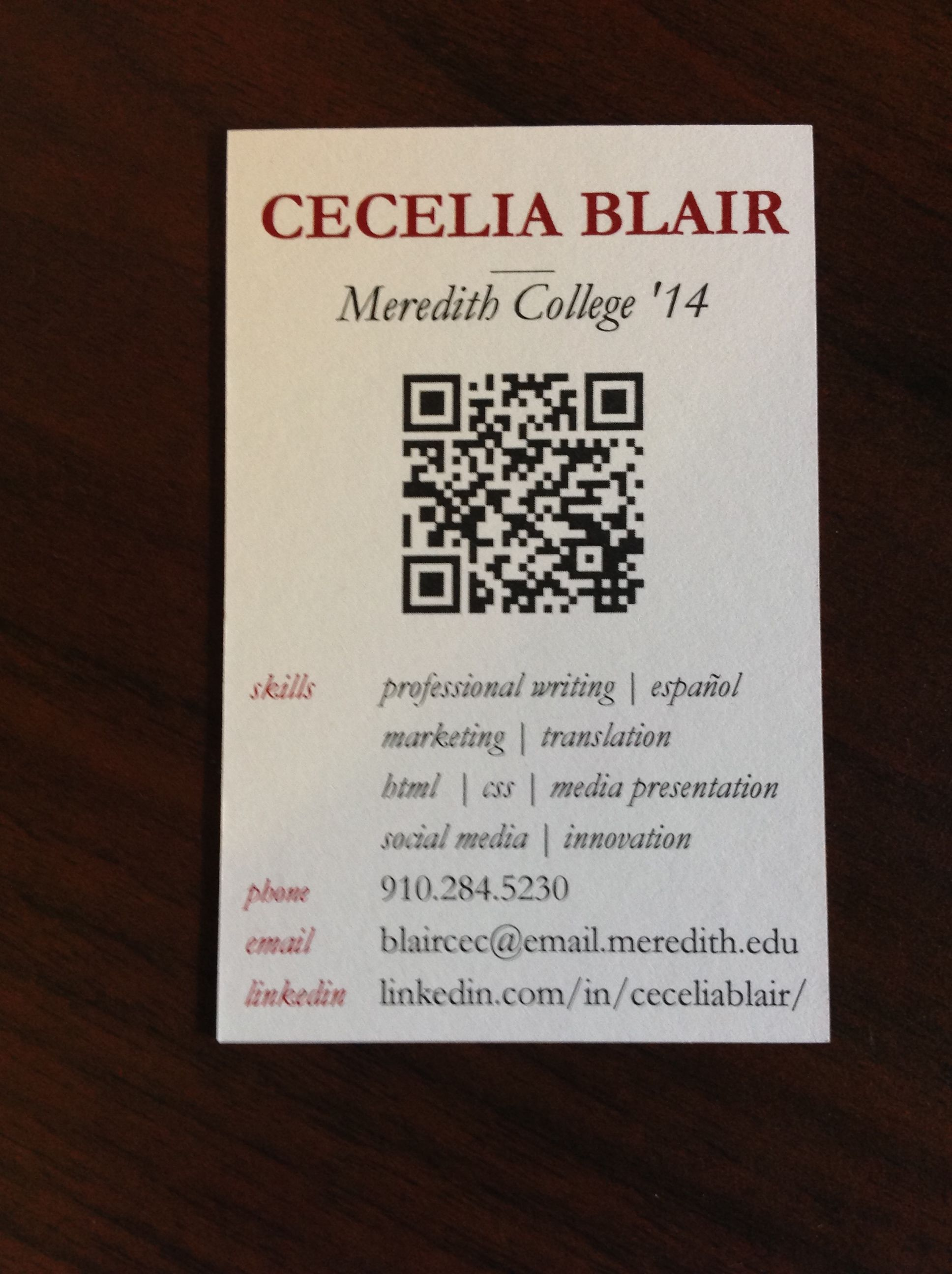 Sample Business Card Information To Include Okay