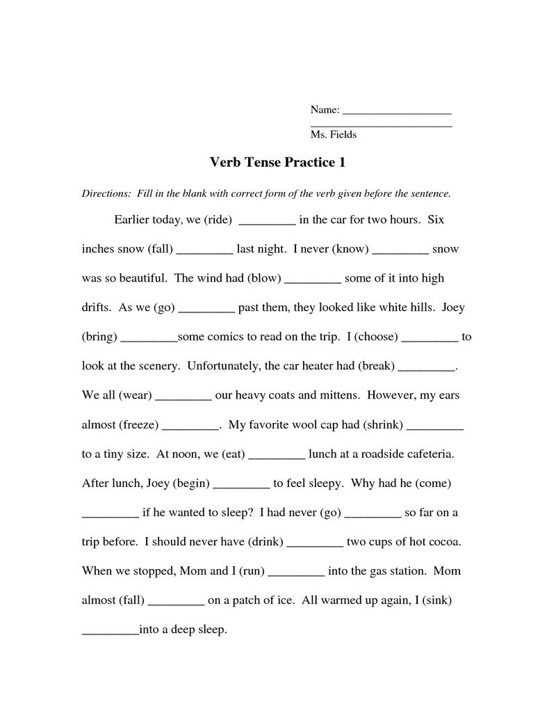 worksheet Past Tense Verb Worksheets irregular past tense verb worksheet second grade tutoring worksheet
