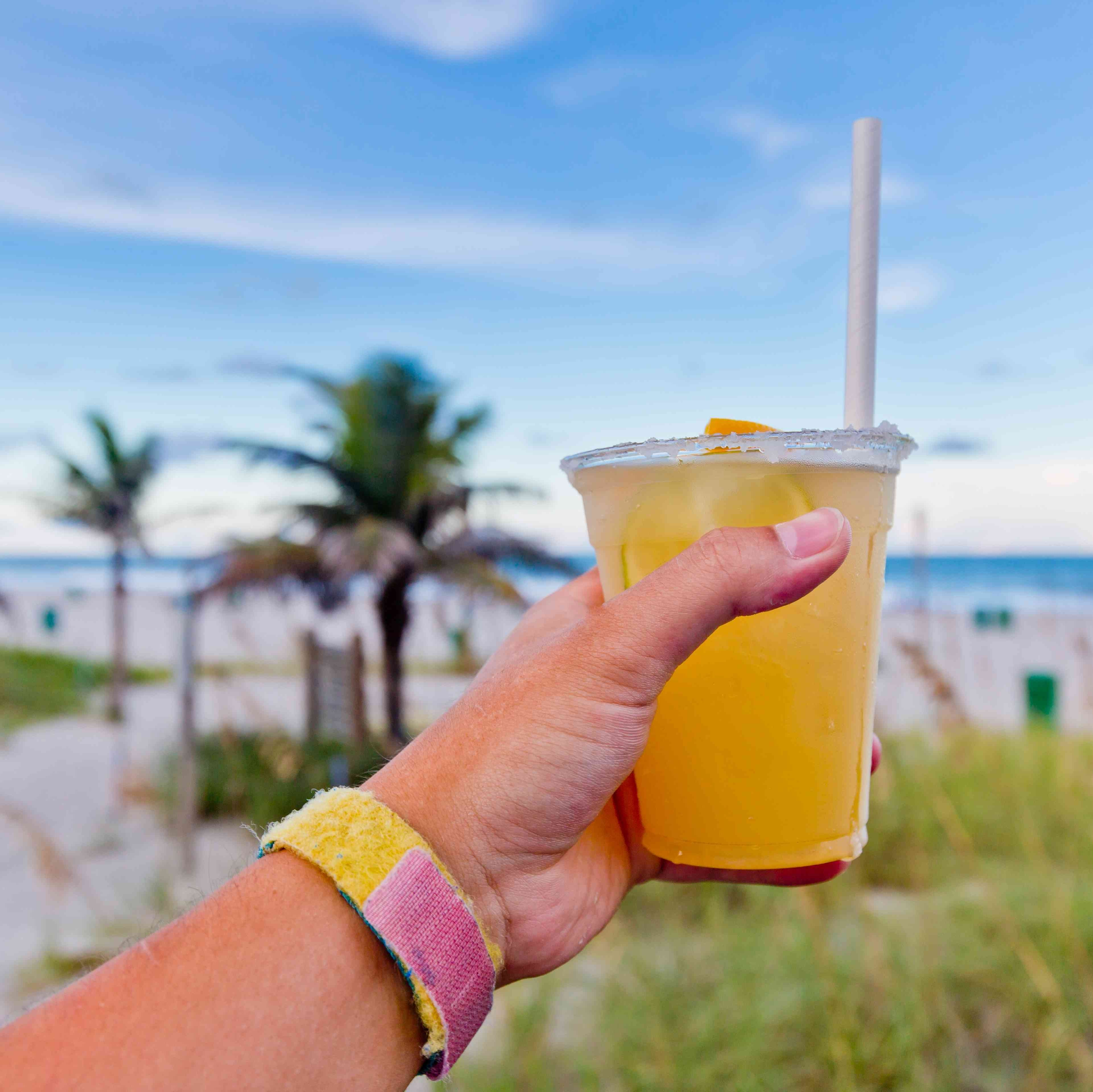 Beach cold drink get naked