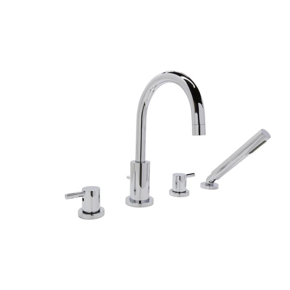 Anzzi Lien Series 2 Handle Lever Deck Mount Roman Tub Faucet With
