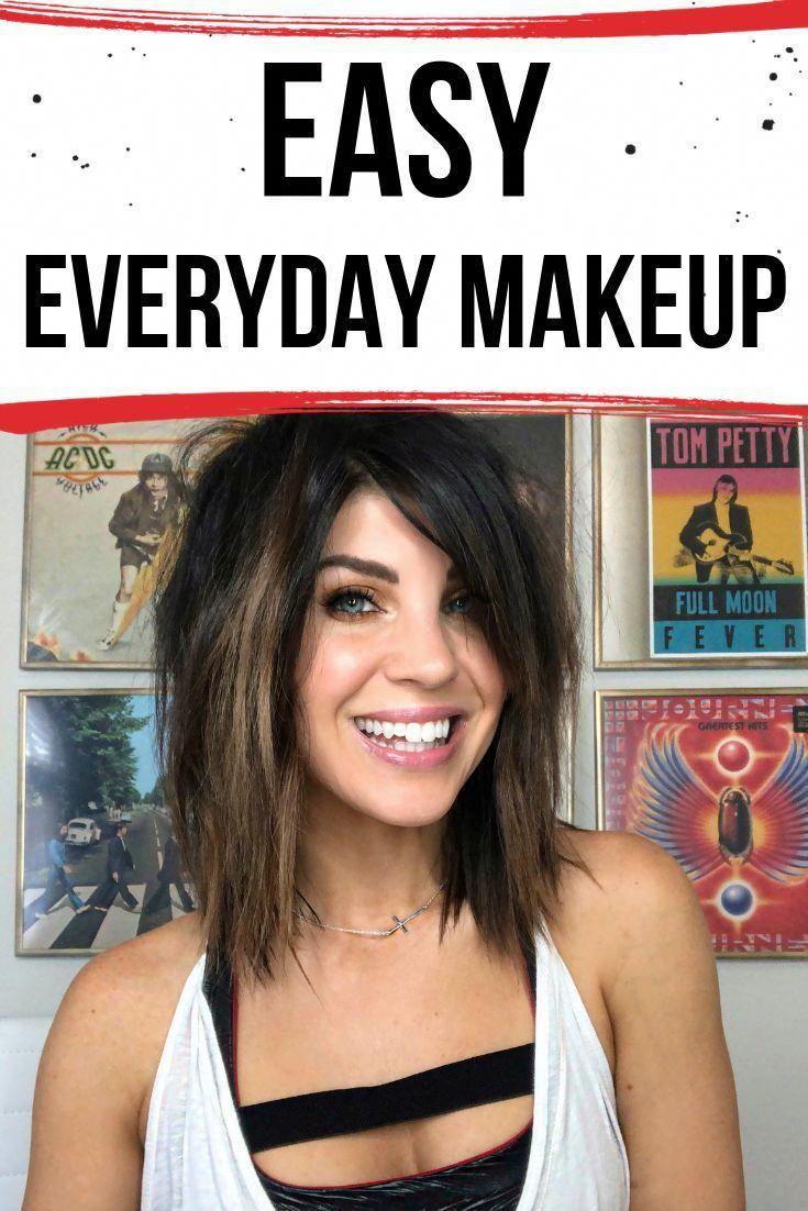 FÁCIL look de maquillaje diario con un toque.  Tutorial paso a paso.  .  .  maquillaje, fácil …  – Maquillaje