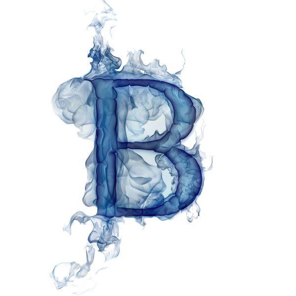 Smoke Letters B Azul Alfabeto Letra B
