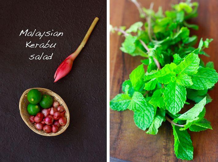 Asam Laksa Kerabu Salad Yummy Vegetable Recipes Chili Lime Dressing Tropical Fruit Salad