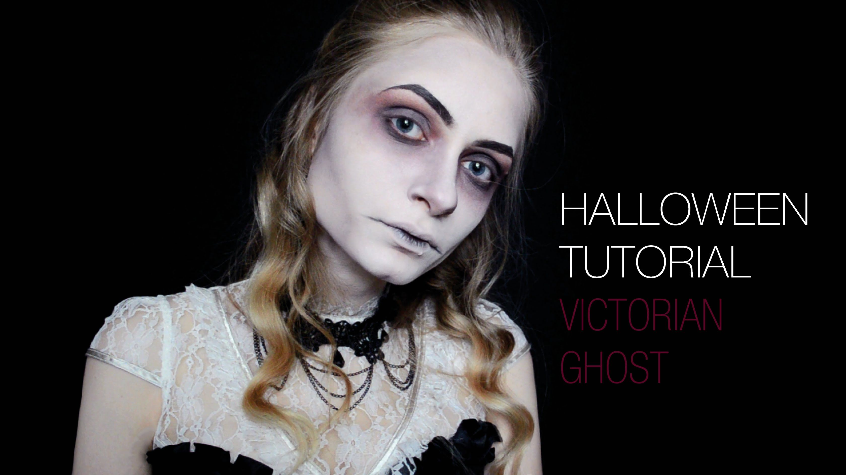 Halloween Make Up Anleitung Halloween Makeup Tutorial Victorian Ghost Dead Widow