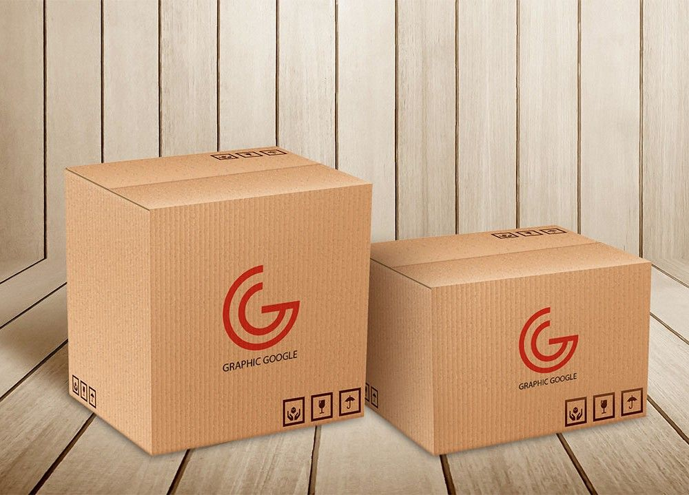 Download Delivery/Moving Box Mockups | MockupWorld | Box mockup ...