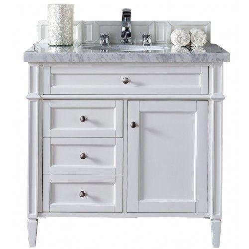 36 Brittany Single Bathroom Vanity White White Vanity Bathroom 36 Inch Bathroom Vanity Single Bathroom Vanity