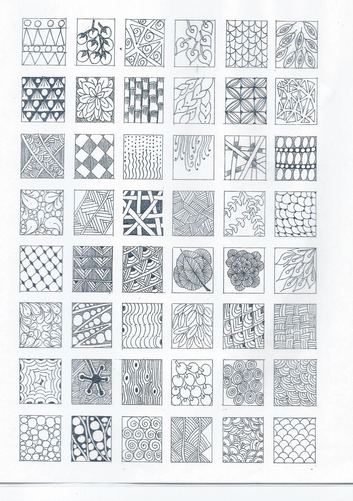 Zentangle Pattern Ideas Interesting Inspiration Design