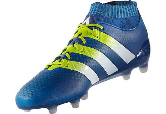 Shock Blue adidas Ace 16.1 Primeknit FG Soccer Cleats