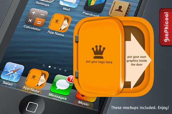 iOS 7 app icon Opened Door