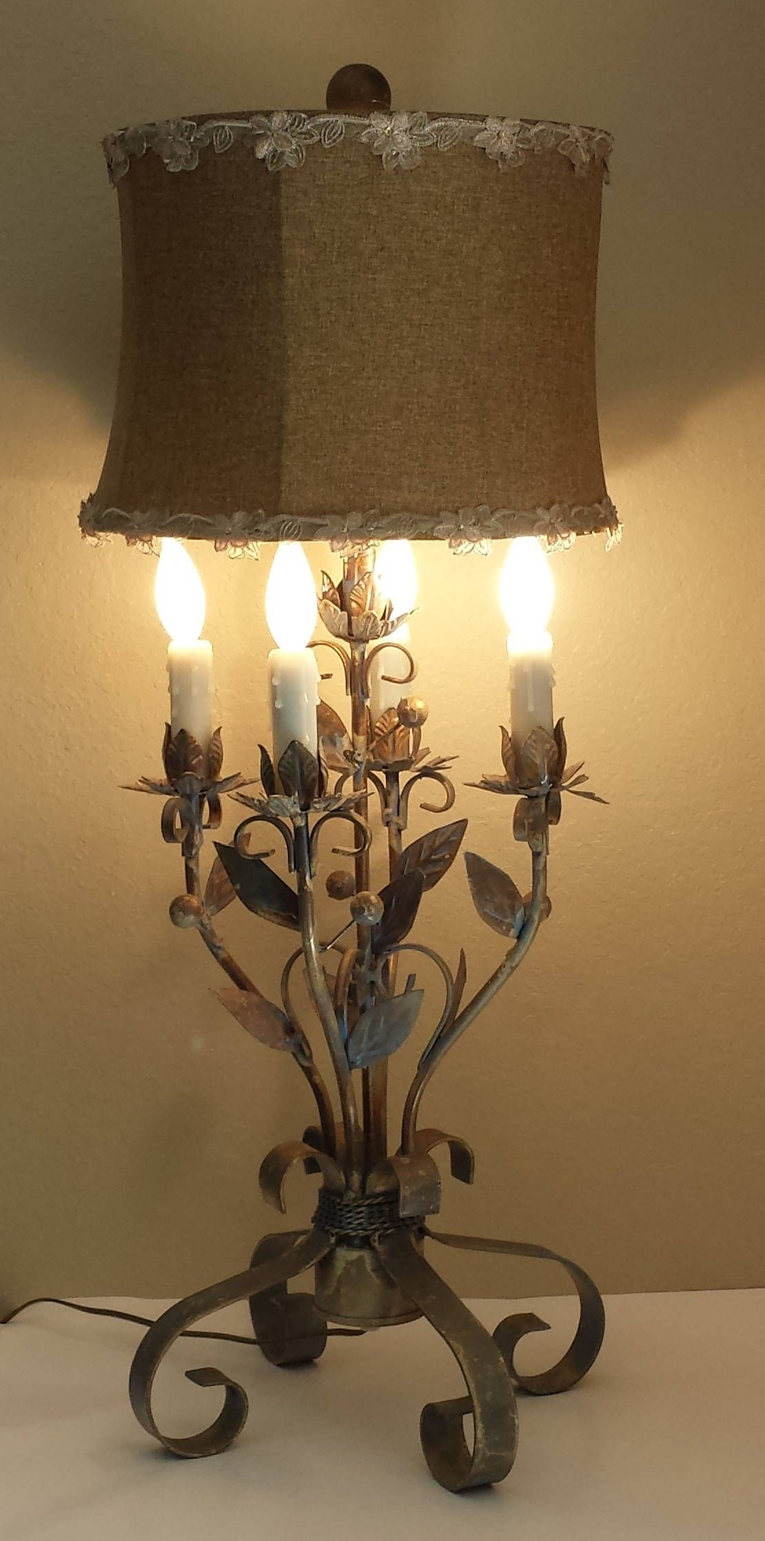 Vintage Wrought Iron Table Lamp Home Decor Wrought Iron Lamp By