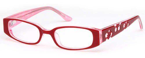 ac3d06d3164 Childrens Flower Girl Glasses Frames Red Kids Prescription Eyeglasses  43-16-125