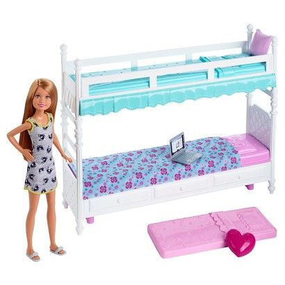 Barbie Sisters Stacie Doll With Bunk Beds Giftset Barbie Bedroom
