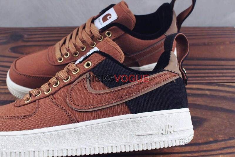quality design fashion styles new styles Carhartt WIP x Nike Air Force 1 Low Ale Brown | Nike air force ...