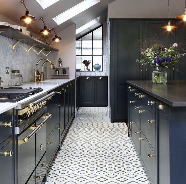 Good Bert And May Light Blue Annecy Tiles Compliment The Dark Painted Wood  Surfaces, Brassware And