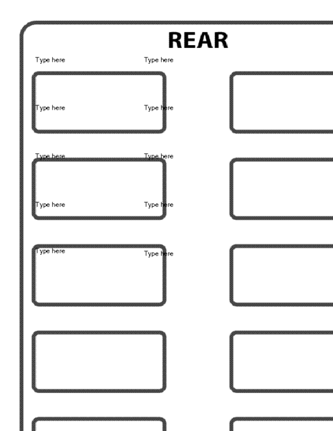 education world  school bus seating chart template
