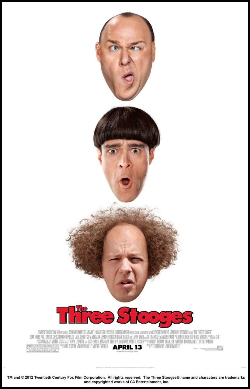 Nyuk Nyuk Nyuk The Three Stooges Os Tres Patetas Cartaz De Filme 2012 Filme