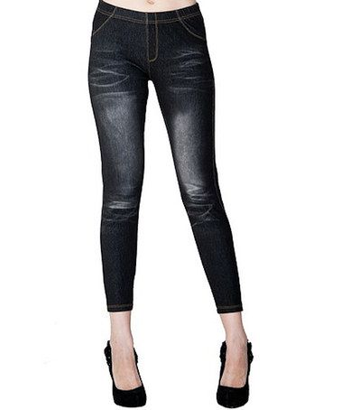 Take a look at this Navy Distressed Jeggings by r.bryant on #zulily today!