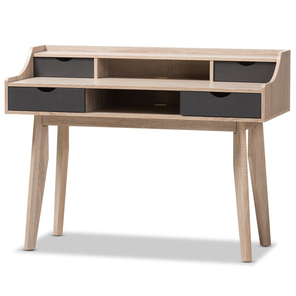 complete your minimalistic styled space with the writing desk from rh in pinterest com