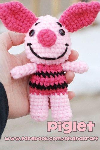 Ohana Craft Tumblr-- Free Mini Piglet crochet pattern