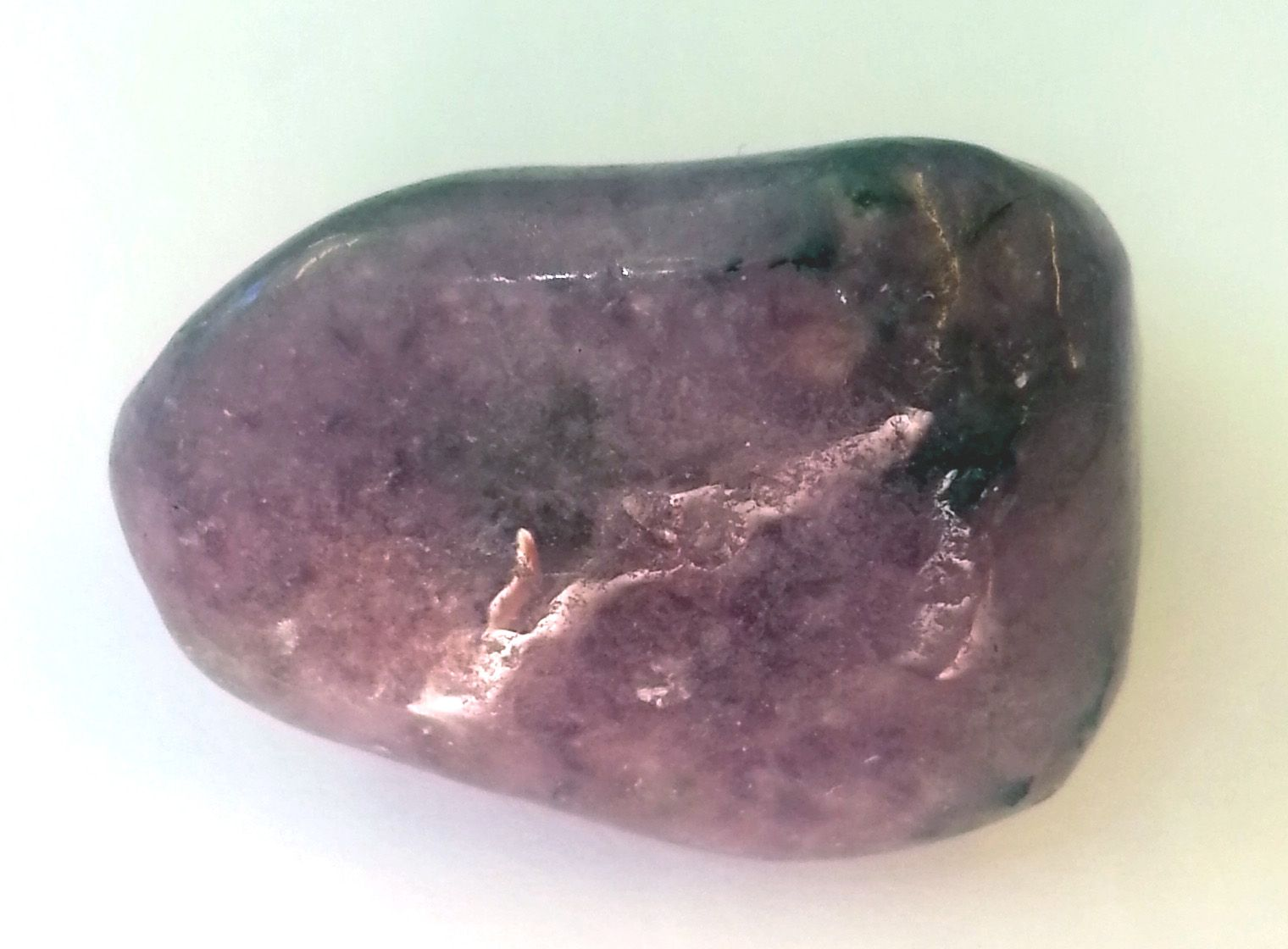 Lepidolite is a lilacgray or rosecolored mineral. It's a