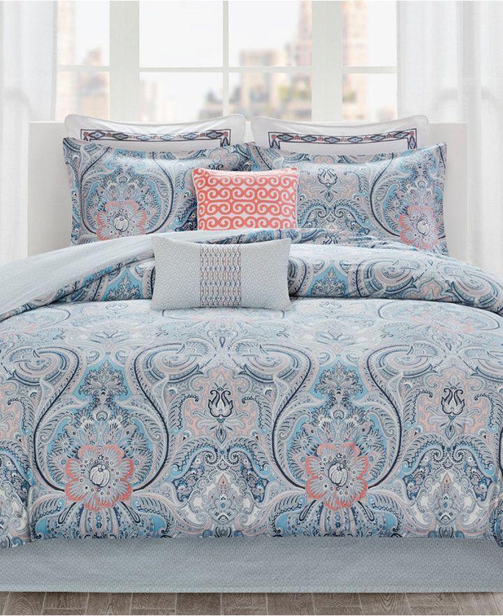 Echo Avalon Cotton Reversible 4 Pc California King Comforter Set