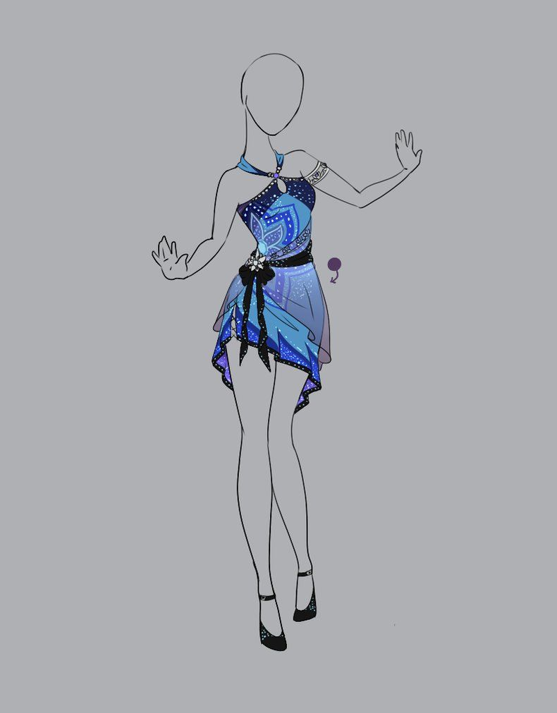 Pahazene Style With Nahazene Color It Could Work As A Top Or As A Dress With A Longer Length Fashion Design Drawings Art Clothes Anime Dress