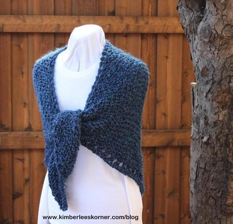 Easy Knit Triangle Shawl Shawl Triangles And Knitting Patterns