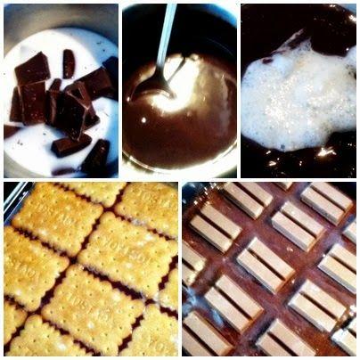 El blog de DIY and VINTAGE: COOKIES AND CHOCOLATE CAKE WITH KITKAT / TARTA DE GALLETAS Y CHOCOLATE CON KITKAT