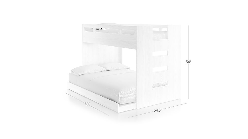 Abridged White Glaze Twin Over Full Bunk Bed With Right Ladder Reviews Crate And Barrel Bunk Beds Full Bunk Beds Bed