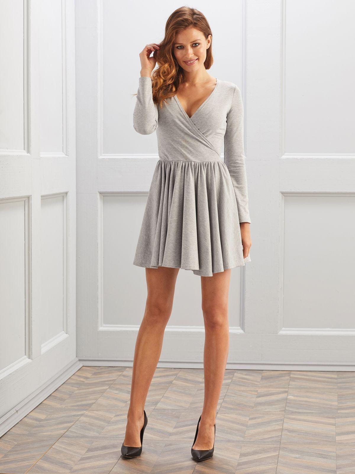 a45f8f3ac6 Sukienka Chelsy w kolorze szarym   Sukienki - Sukienki na każdą okazję -  SUGARFREE.PL
