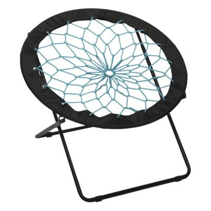 Buy Dish Chair: Bungee Chair Black With Teal