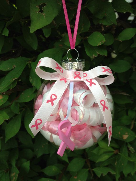 Handmade Breast Cancer Awareness Christmas by kuteKrazyKreations, $9.00  could make this for MS using orange - Handmade Breast Cancer Awareness Christmas Ornament Christmas