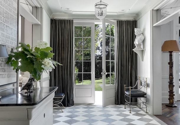 1000+ images about front door curtain on Pinterest | Colored front ...