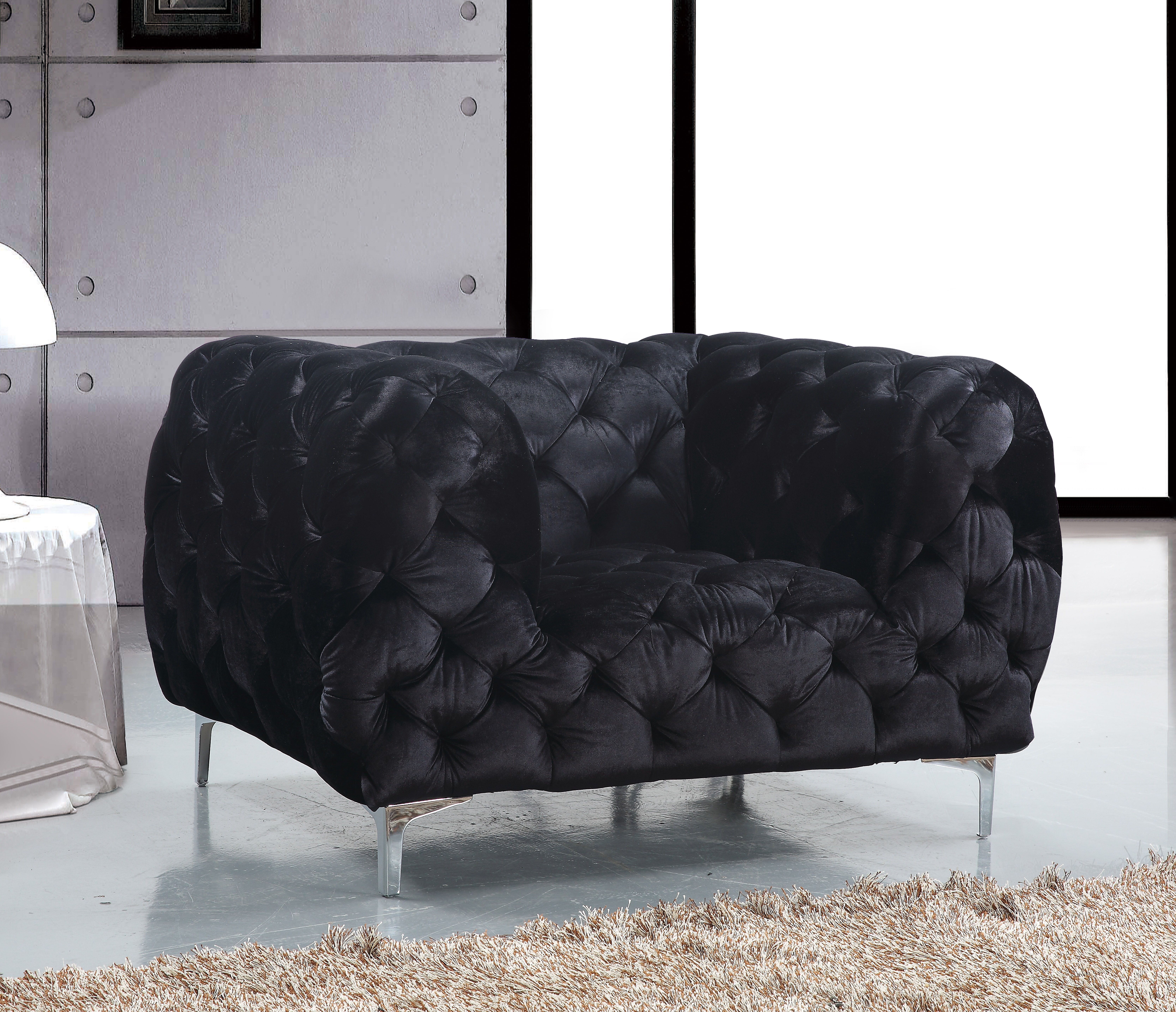 Meridian Furniture The Mercer arm chair will WOW any visitor that
