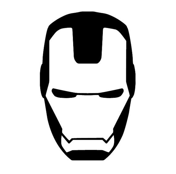 16a6740b87c1136315326544d1172a53 ironman mask decal ironman iron man clipart black