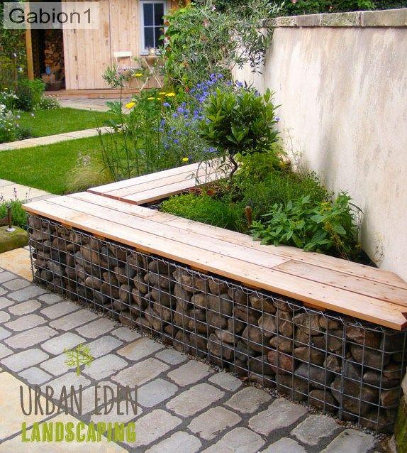 7 Affordable Landscaping Ideas For Under 1 000: Gabion Wall, Garden, Garden Beds