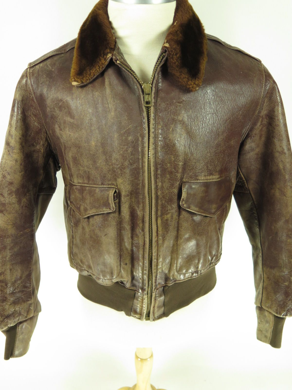 Vintage G1 Style Leather Bomber Flight Jacket With A Quilted Liner Find More Men S And Women S Authentic Vintage C Flight Jacket Leather Bomber Jacket Jackets [ 1600 x 1200 Pixel ]