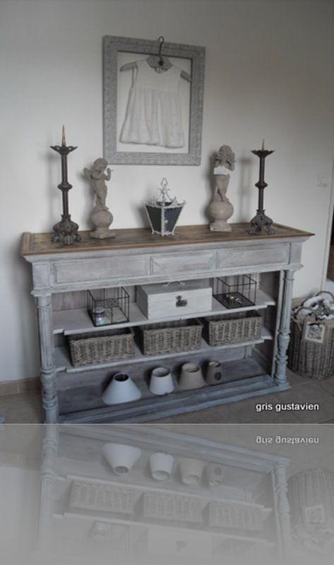 SDC13278 peindre meubles Pinterest Shabby, Salons and Tables - Peindre Un Meuble En Gris