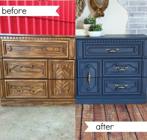 A Dresser In Navy Paint Painted Furniture Refunk My Junk Furniture Painting Wood Furniture Painted Furniture