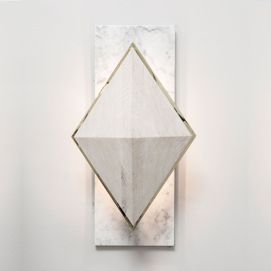 What A Fantastic Wall Sconce That Mixes Wood And Marble. Fancy But Not  Stuffy.