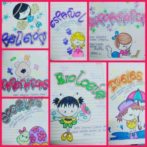 Decoracion De Cuadernos Caratulas Como Marcar Cuadernos