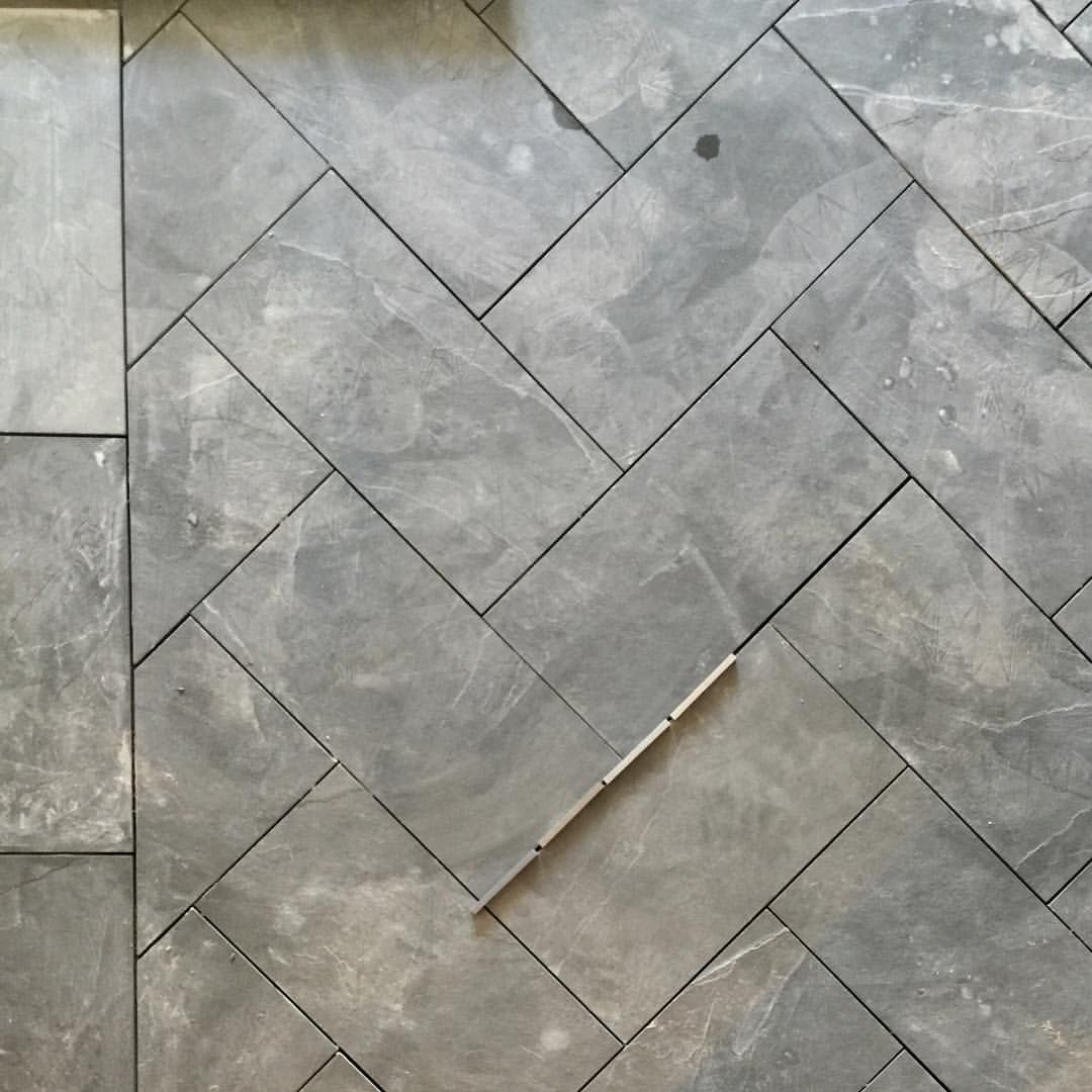 "Studio McGee on Instagram: ""Pardon the dust, but you can still see how awesome these slate herringbone floors will be...right?!!! Just need to select the grout. ✔️ #windsongproject"""