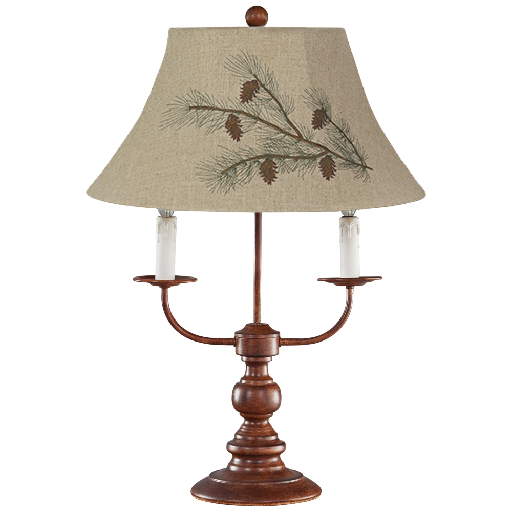Shade 3 Light Rustic Western Table Lamp
